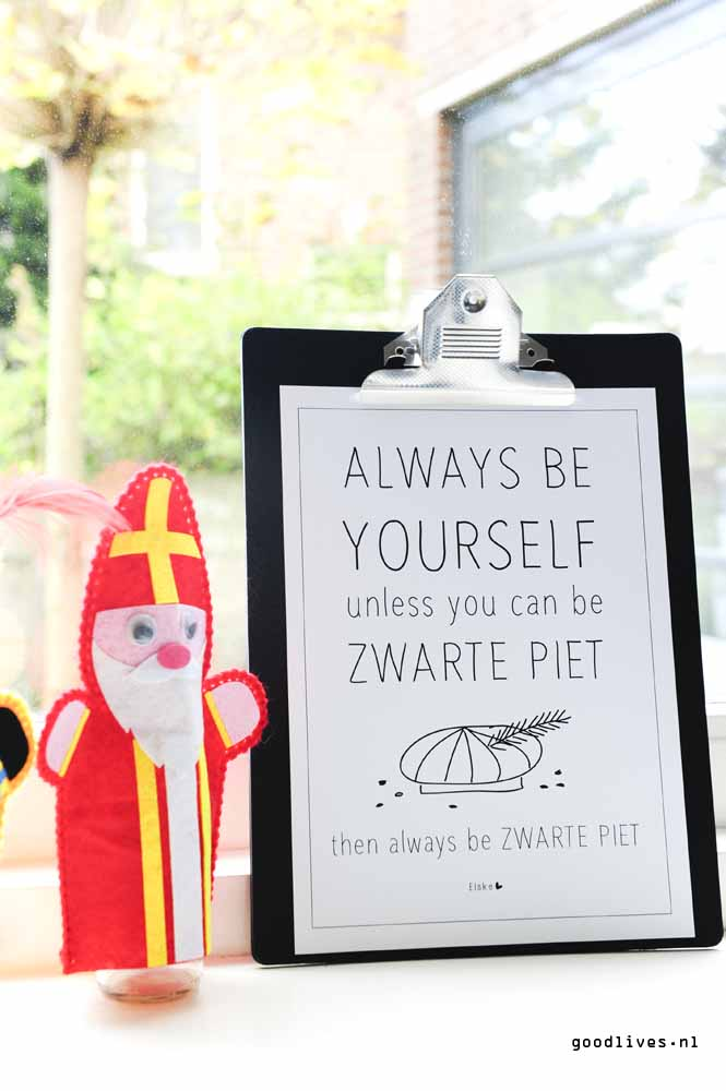 Sinterklaas printable from Elske