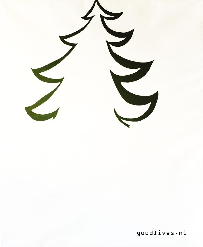 Alternatieve Kerstboom schilderen op doek
