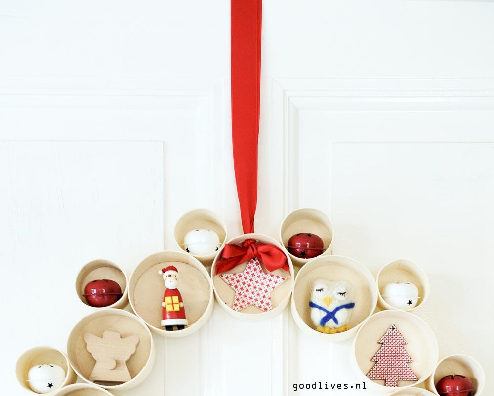 Bovenkant alternatieve kerstkrans