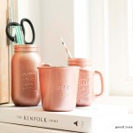 DIY: Copper colored mason jars and weck jars