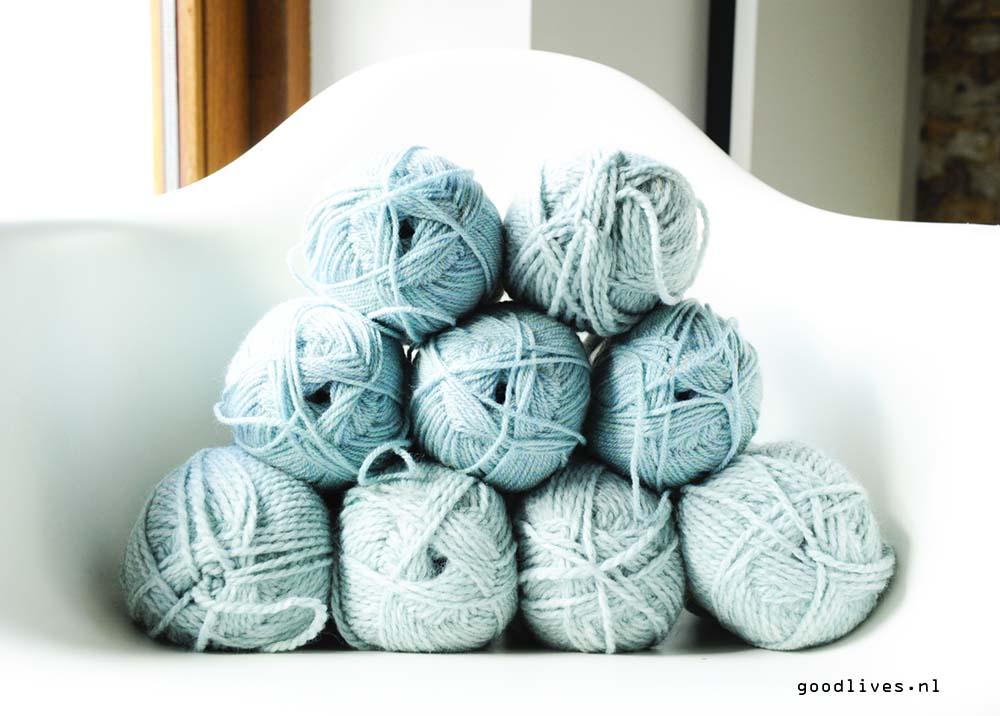 De kleurtjes wol voor de DIY plaid