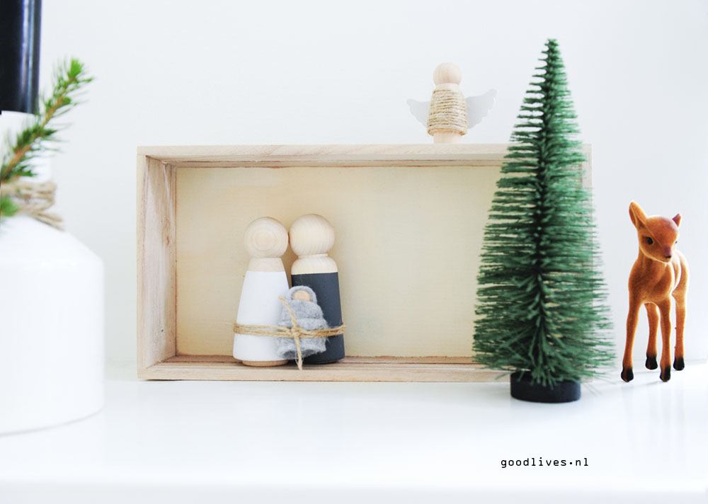 DIY kerststal voor Goodlives interior 2017