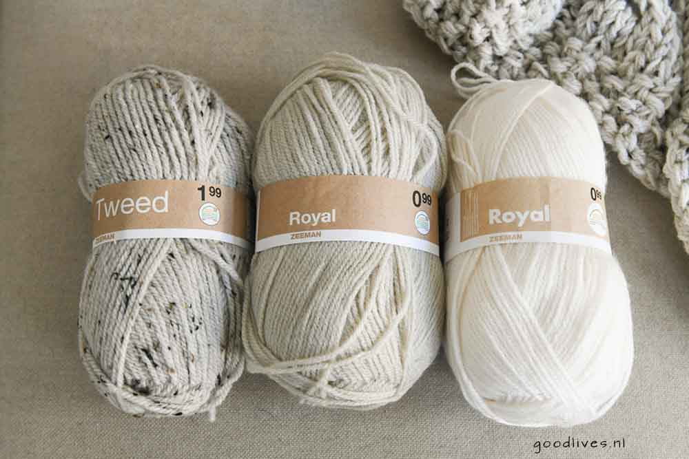 Beige cable blanket DIY, the wool goodlives