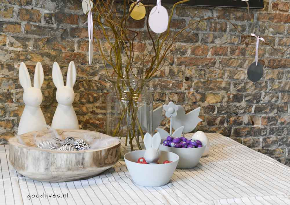 Easter table 2018 Goodlives with several DIY projects