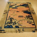 5 X 7 8 Hand Knotted Circa 1910 S Antique Wool Chinese Art Deco Peking Scenery Rug Tapestry Wall Hanging 12980552