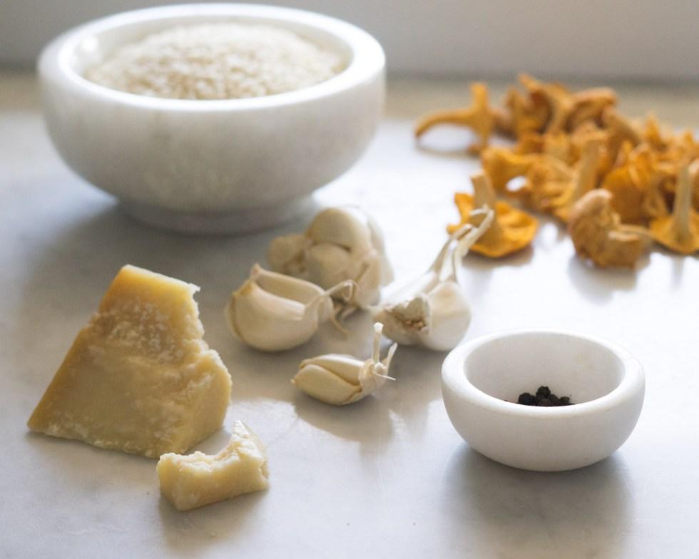 risotto med kantarell