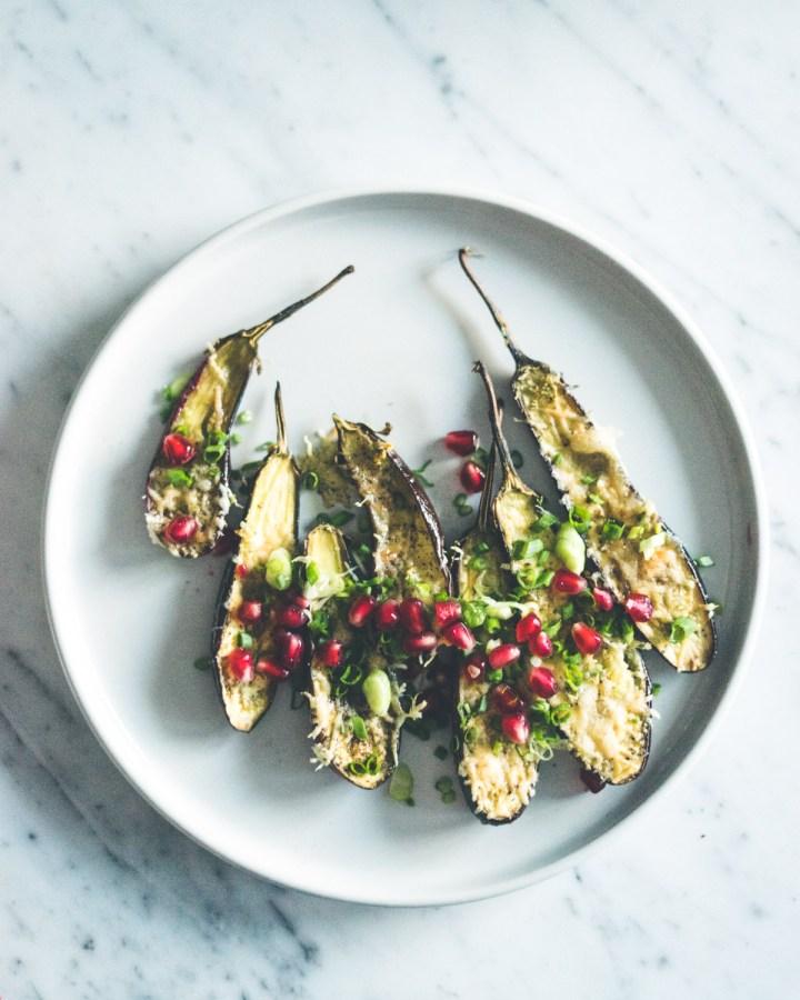 parmesangratinert aubergine