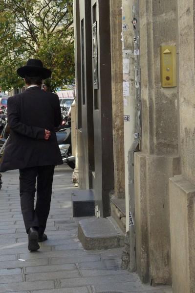 Jewish area Marais-Paris-in the street