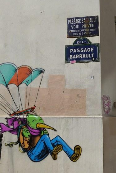 Butte aux Cailles Paris - Street art Passage Barrault