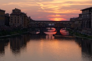 Florence-Ponte Vecchio at night