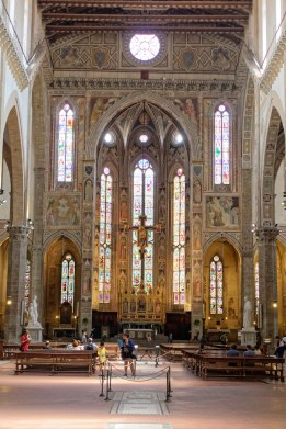 Florence-Santa Croce-the choir