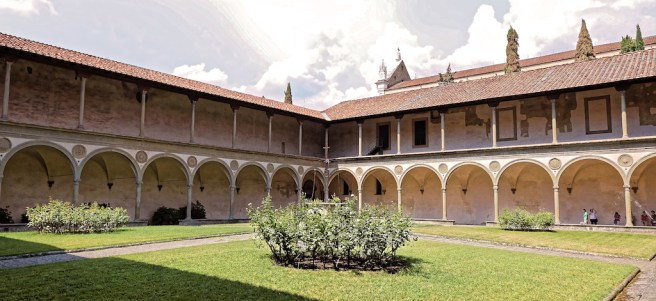 Florence-Santa Croce-the cloister