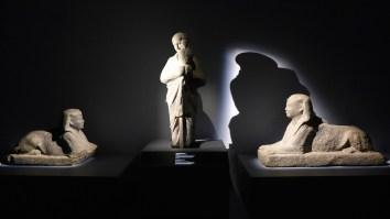 IMA-Paris-Sculptures inside Osiris exhibition