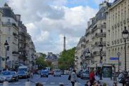 Paris-The Eiffel tower from the place du Pantheon