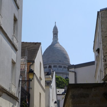 Montmartre-View on the Sacre Coeur from the rue Sainte Rustique