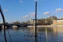 The Louise Marie sunked when the Seine level has dropped