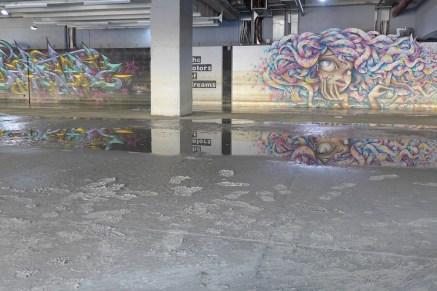 Street art under the Cité de la Mode et du Design