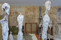 Institut Giacometti-Paris-works in the studio