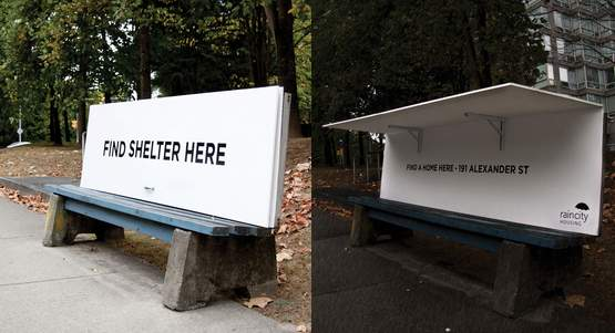 Vancouver Benches Convert To Shelters Good News Network