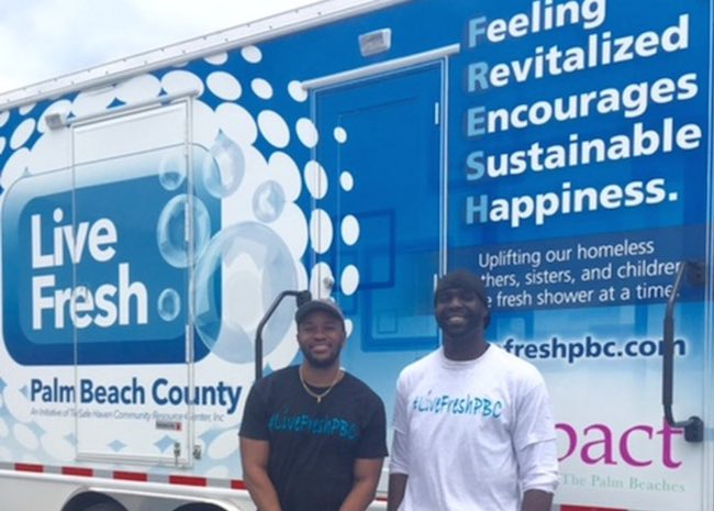 Live FRESH Mobile Shower -SunSentinel video