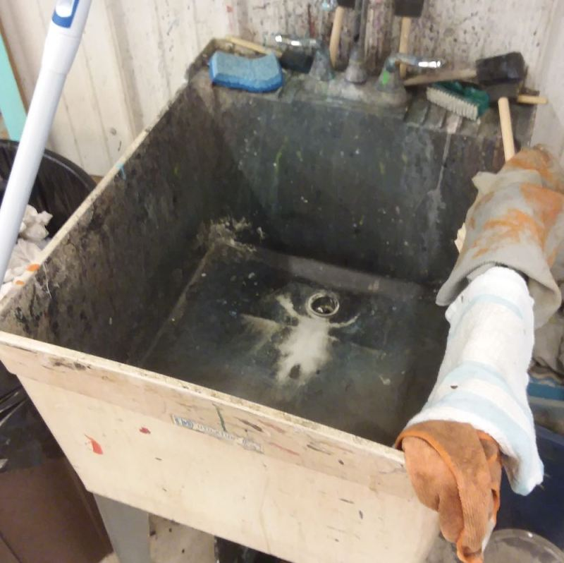 angel stain in sink