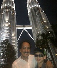 Emmanuel Canlas (left) at the KLCC Petroas Towers