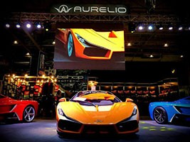The three colors of the Aurelio supercar