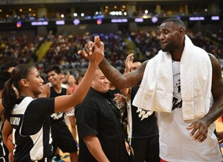 Kristine Cayabyab and LeBron James