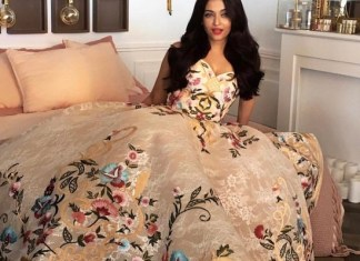 Aishwarya Rai Bachchan wearing Mark Bumgarner's creation