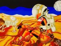 Worth Lodriga bags 1stplace in Student Mars Art in Colorado