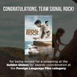Signal Rock gets 76th Golden Globes screening invitation