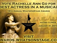 Rachelle Ann Go leads Hamilton nominees in UK's Whats On Stage awards