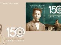 150th birth anniversary of 1st Philippine President Emilio Aguinaldo celebrated on PHLPost commemorative stamps