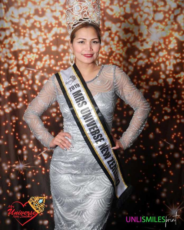 Carmela Evorala Laylo Mrs Universe New Zealand
