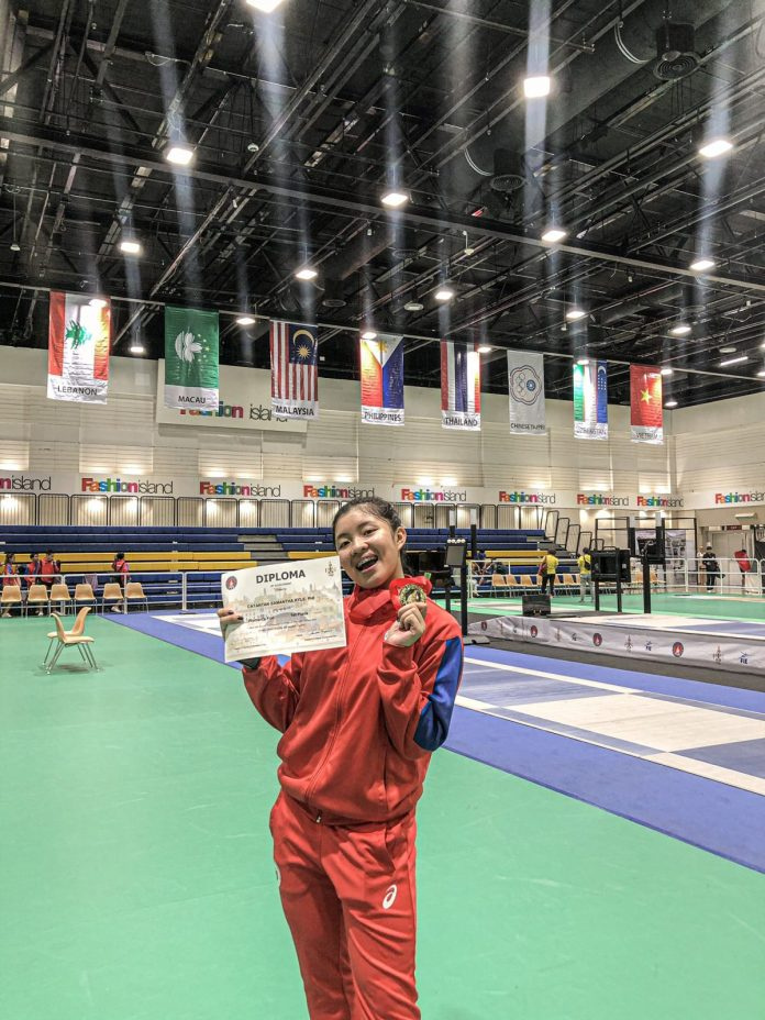 Samantha Asian Fencing Championship