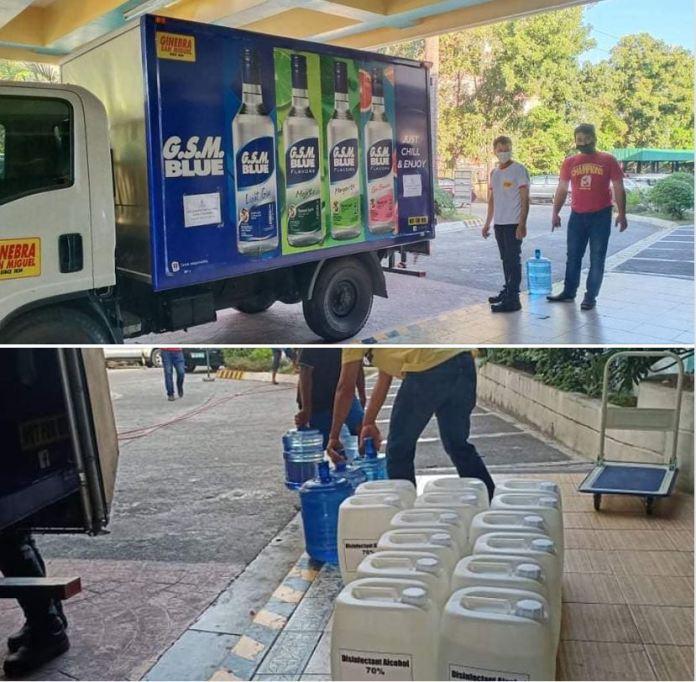 San Miguel Corporation disinfectant alcohol