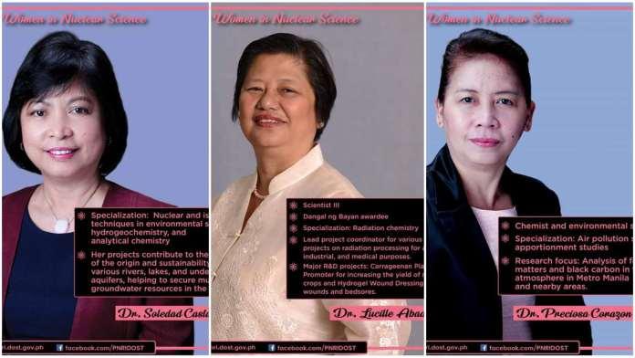 Filipino women nuclear scientists