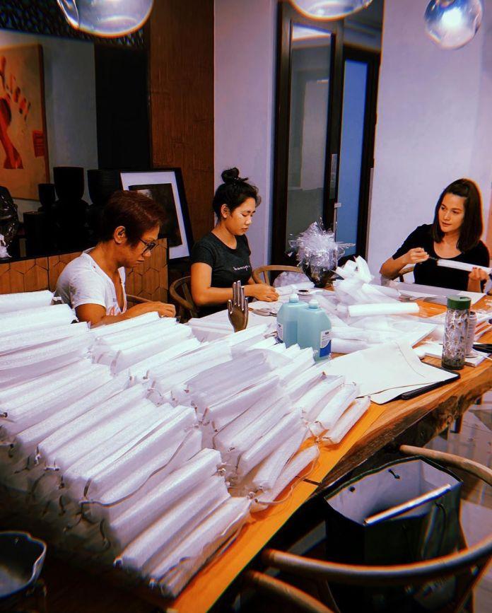 Bea Alonzo donates medical supplies