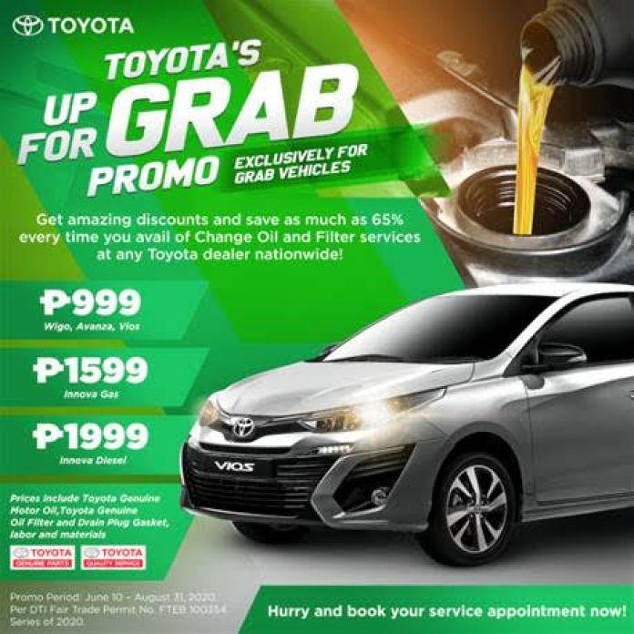 Toyota GRAB drivers discounts