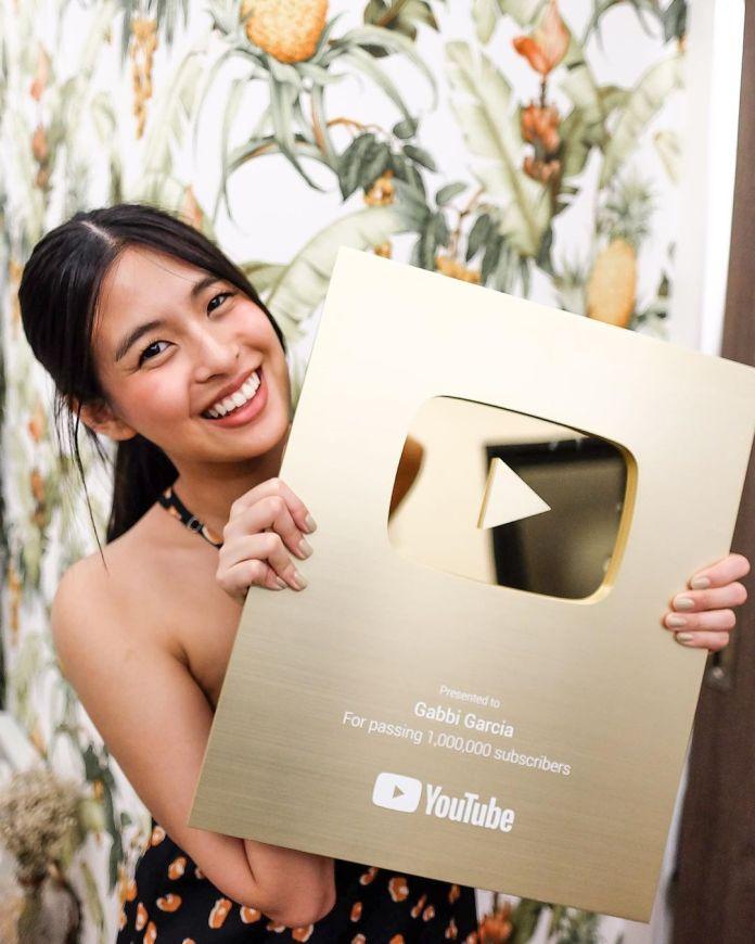 Gabbi Garcia YouTube Gold Play Button
