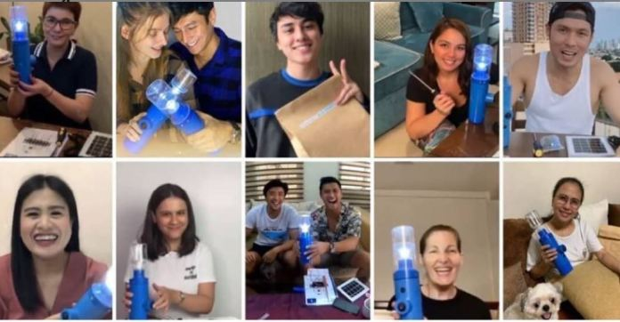 Some of the celebrity solar engineers who joined the Light it Forward campaign.