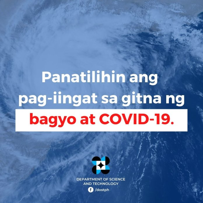 COVID 19 safety guide when typhoon strike