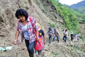 Berta Cacere conduit la mobilisation des Lencas face au projet de barrage au Honduras.  Photo : Goldman Environment Prize