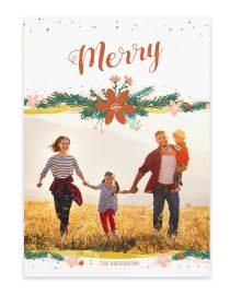custom christmas photo card