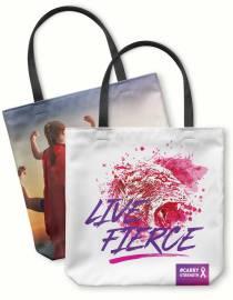 live fierce fight cancer photo tote bag