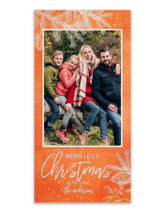 orange christmas card design