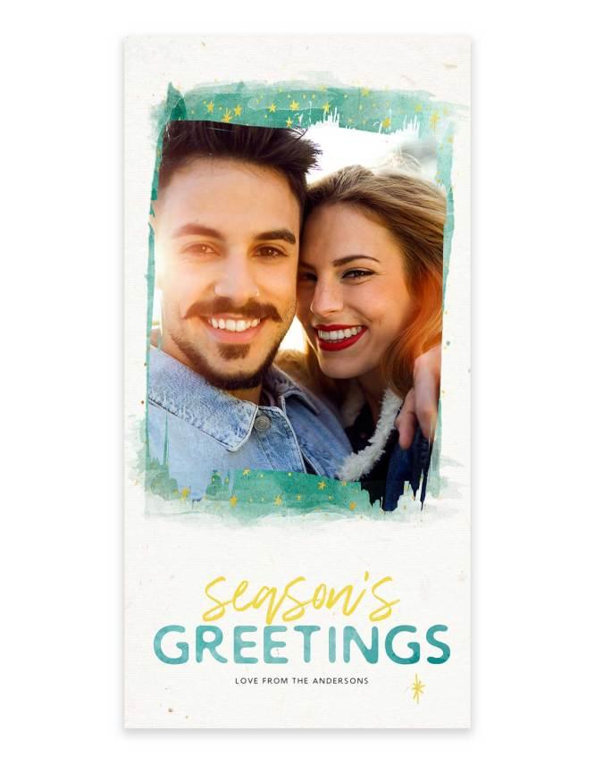 Season greetings holiday photo card