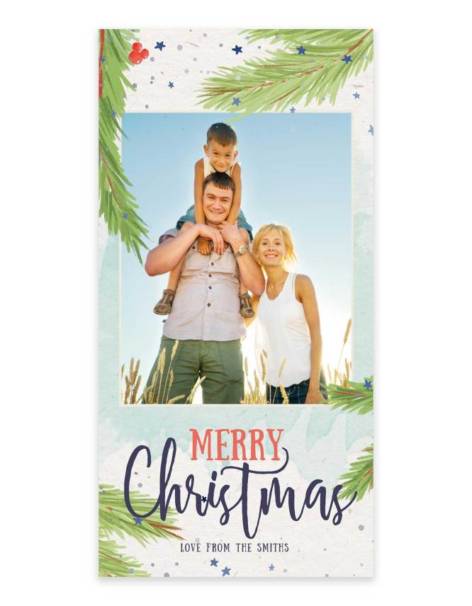 wonderful family christmas card design