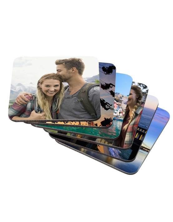 print custom photo coasters set of 6