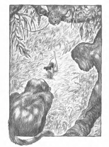 Leo Dog of the Sea interior artwork by Michael G. Montgomery